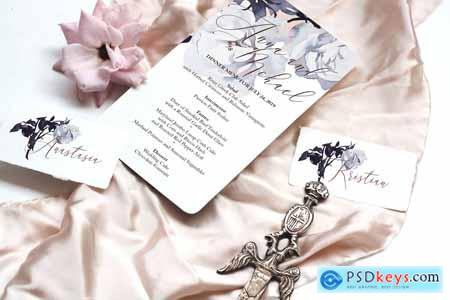 Roses Wedding Invitation Suite 3