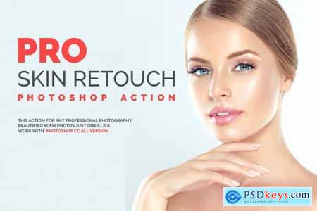 PRO Skin Retouch Photoshop Action » Free Download Photoshop