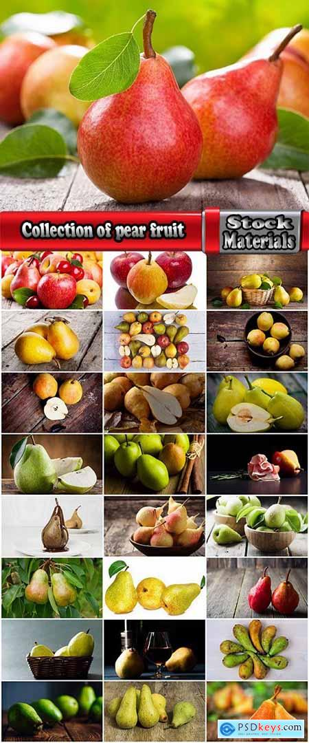 Collection of pear fruit juice vitamin healthy food 25 HQ Jpeg