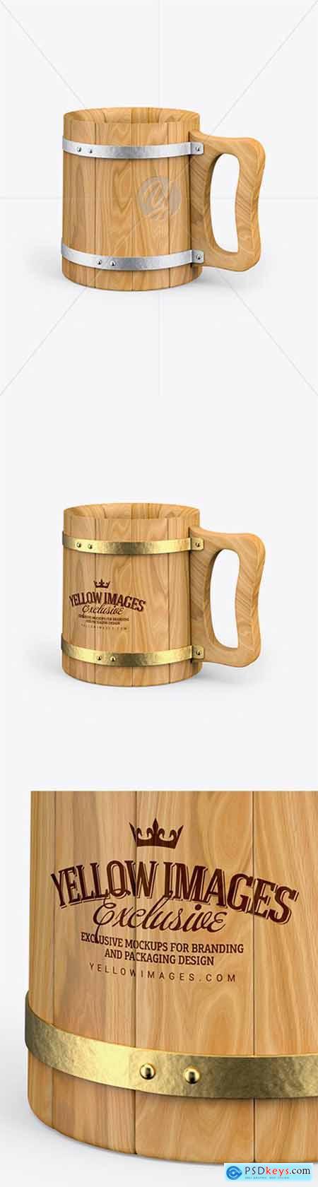 Wooden Mug Mockup