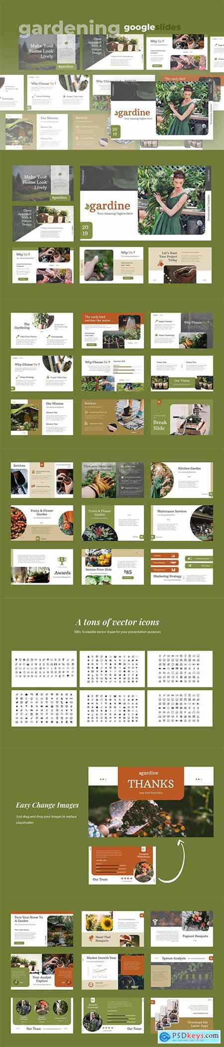 Gardine - Home Gardening Powerpoint Google Slides and Keynote Templates