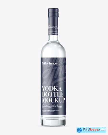 Vodka Bottle Mockup - Front View