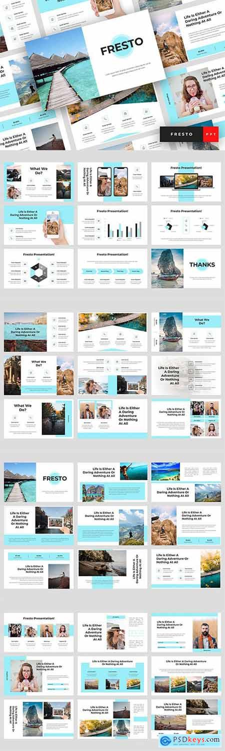 Fresto - Travel Powerpoint Google Slides and Keynote Templates