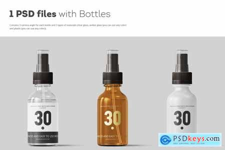 Spray Bottles Mockup