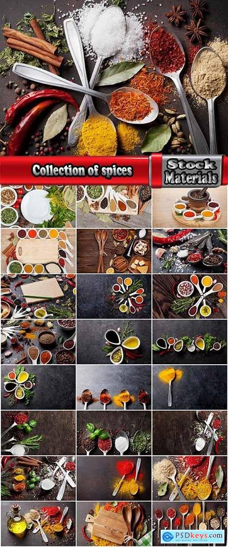 Collection of spices salt pepper spice fragrant seasoning 25 HQ Jpeg