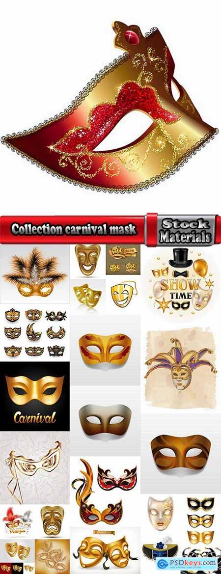 Collection carnival mask super hero pattern is an example of drawing clothes vector image 24 EPS