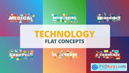 Videohive Technology - Typography Flat Concept Free