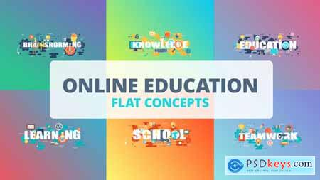 Videohive Online Education - Typography Flat Concept Free