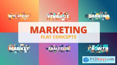 Videohive Marketing - Typography Flat Concept Free