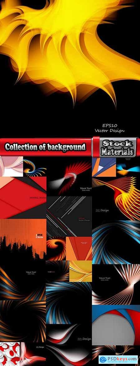 Collection of background is design website template sample wallpaper 3-25 EPS