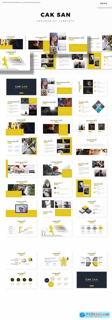 Cak San - Powerpoint, Keynote, Google Slides Templates