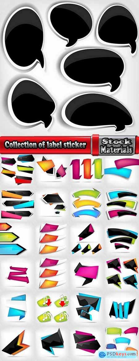 Collection of label discount sale sticker logo frame border card 12-25 EPS