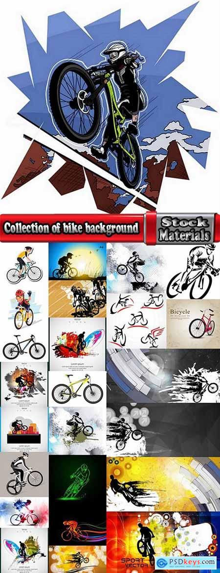 Collection of bike background is an example of a template pattern on clothes sport wheel 25 EPS