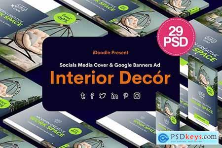 Social Media Pack & Banners Interior, Decor Ad