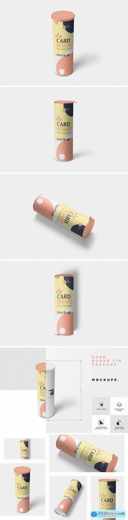 Cardboard Tube Mockups