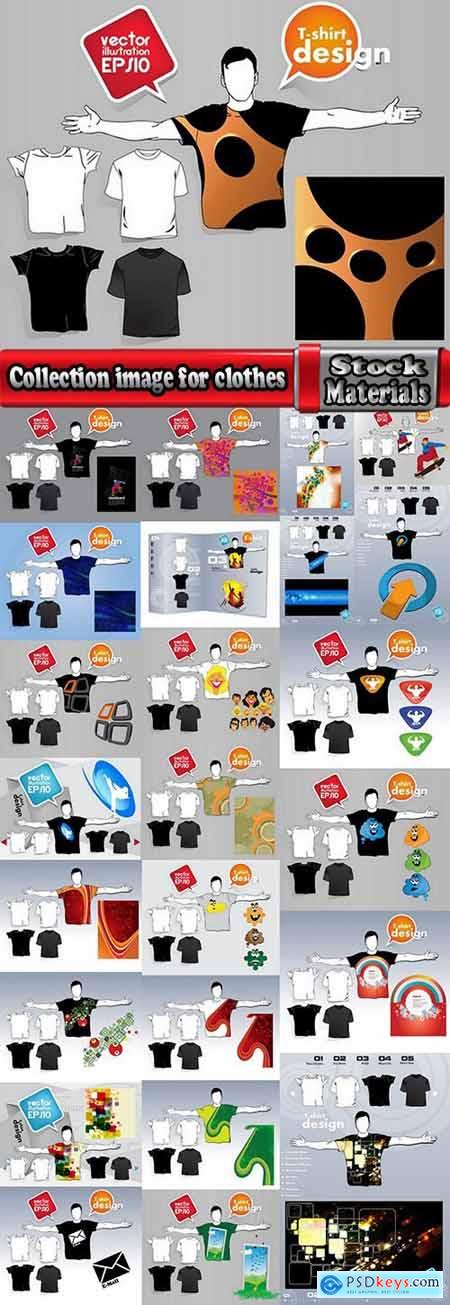 Collection image for clothes image for T-shirt template example stickers 3-25 EPS