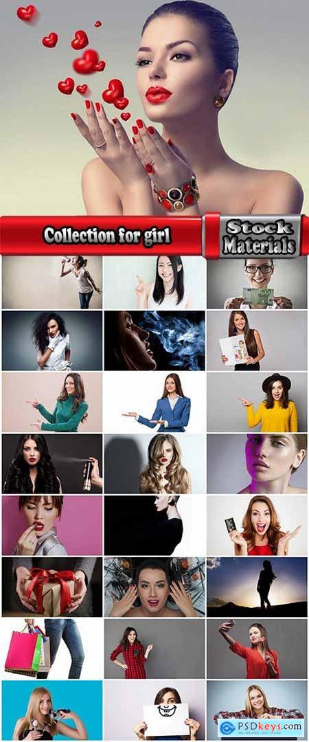 Collection for advertising girl fashion model hairstyle billboard banner sign indication for products 25 HQ Jpeg