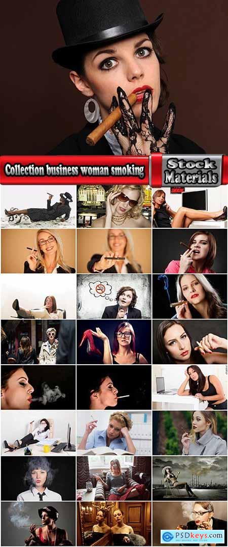 Collection business woman smoking a cigar a cigarette smoke workplace 25 HQ Jpeg