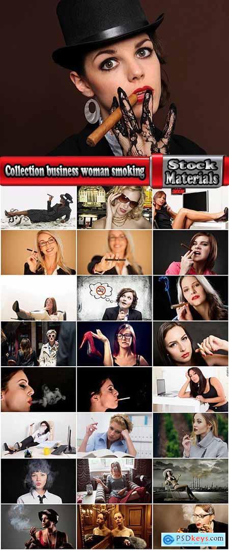 Collection business woman smoking a cigar a cigarette smoke workplace 25 HQ Jpeg