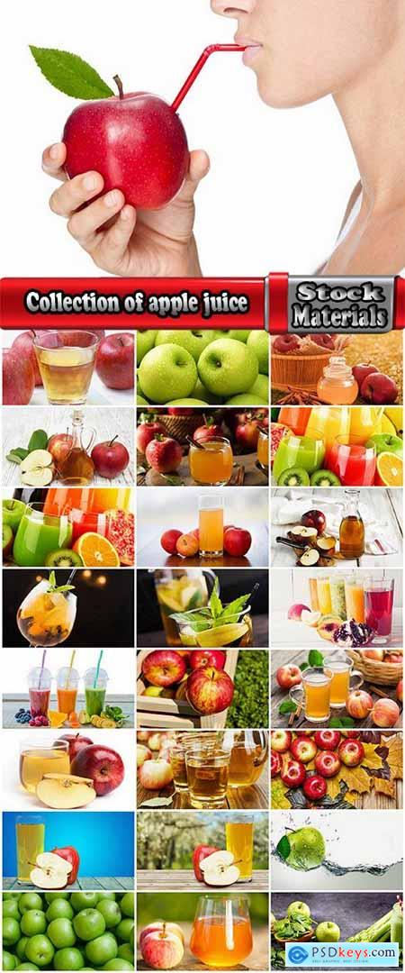 Collection of apple juice various fruits fresh vitamin iron 25 HQ Jpeg
