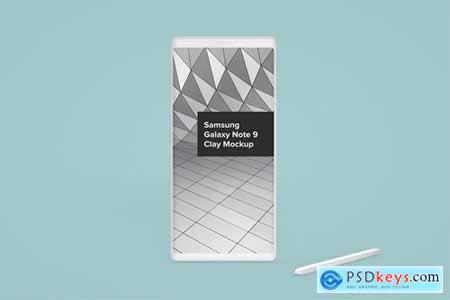 Samsung Galaxy Note 9 Clay Android Phone Mockup » Free