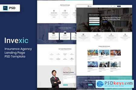 Insurance Agency - Landing Page PSD Template