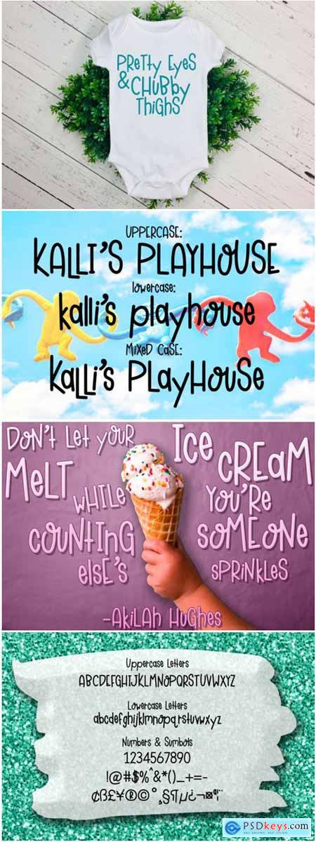 Kalli's Playhouse Font