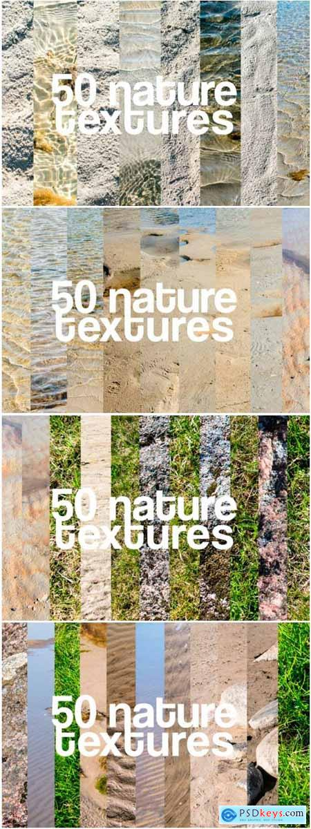50 Nature Textures Beach Grass Rocks Sea 1259812