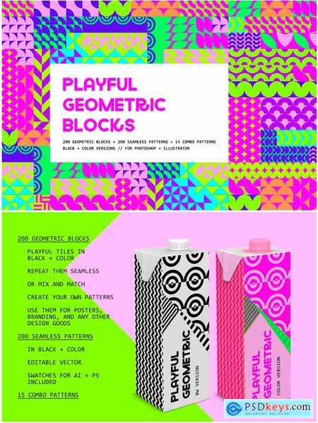 Creativemarket Playful Geometric Blocks 3515803