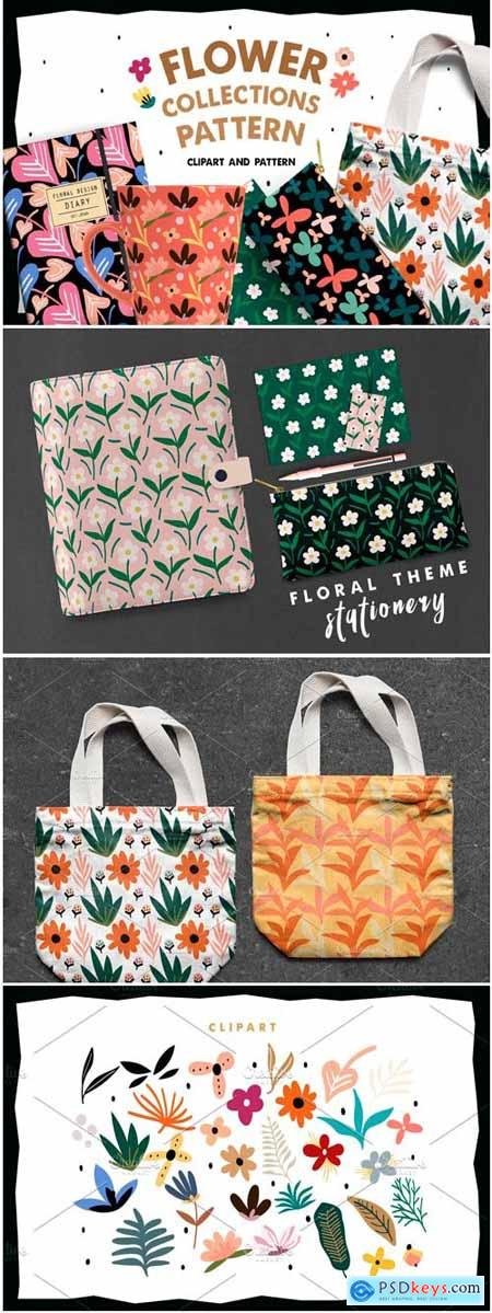 Creativemarket Flower Collections Pattern 3738006