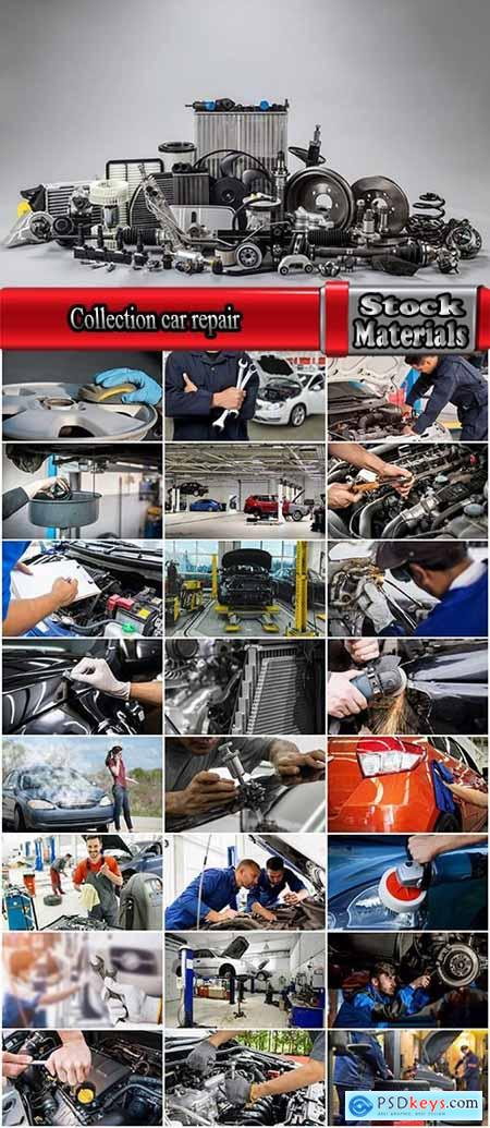 Collection car repair body shop body work motor spare parts for cars 25 HQ Jpeg