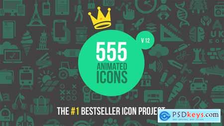 Videohive 555 Animated Icons V12