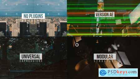 Videohive Modern Glitch Opener Line Slideshow Free