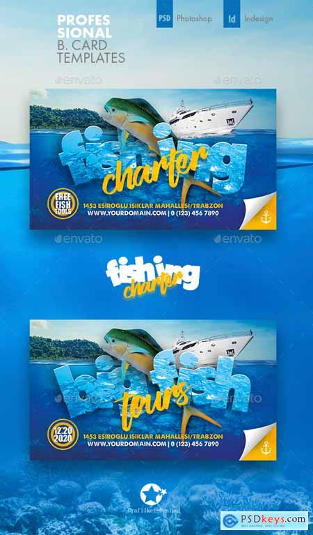Fishing Tour Business Card Templates