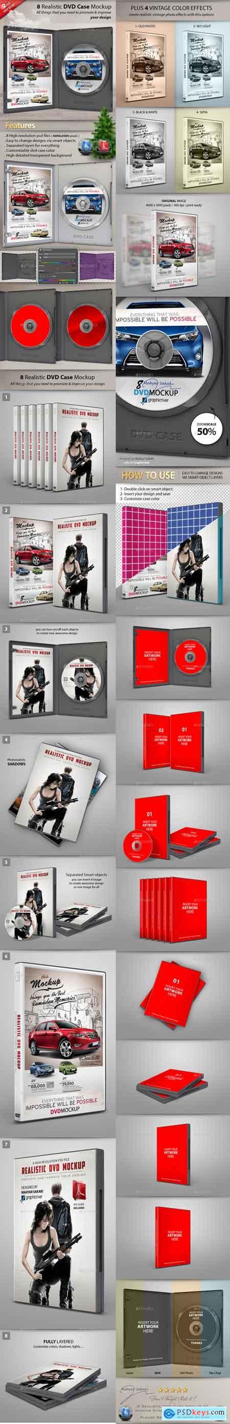 Realistic DVD CD Case Mockup