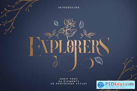 Explorers - Serif font + Extras