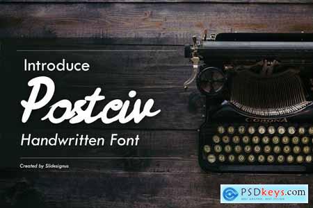 Postciv Script Font