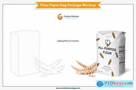 Flour Paper Bag Package Mockup