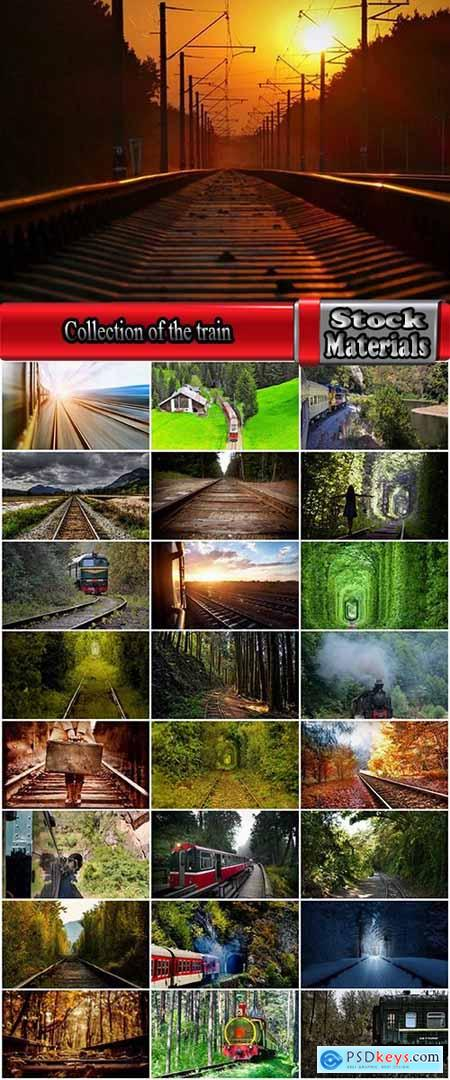 Collection of the train in the forest railway sleepers rails 25 HQ Jpeg
