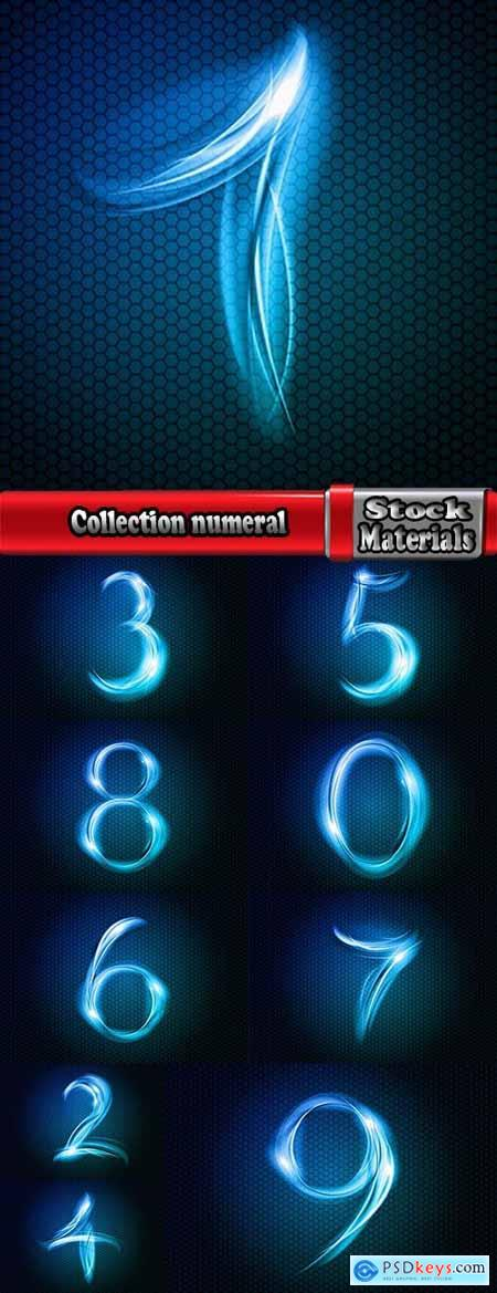 Collection numeral number abstract pattern wallpaper sample
