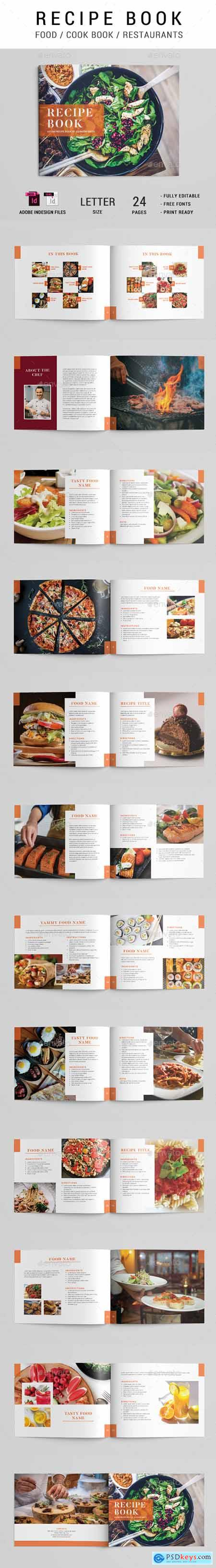 Cook Book Recipe Brochure