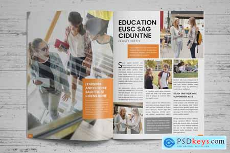 Education Magazine Brochure v1 Creativemarket