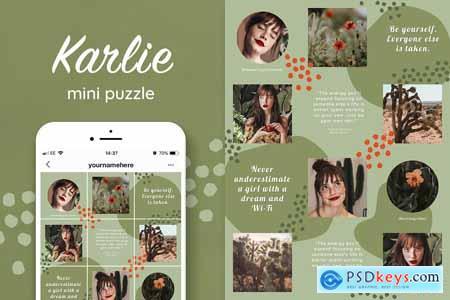 Instagram quotes puzzle template