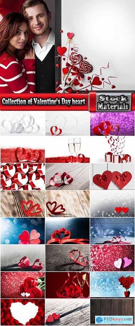Collection of Valentine's Day heart decoration ribbon red paint 25 HQ Jpeg