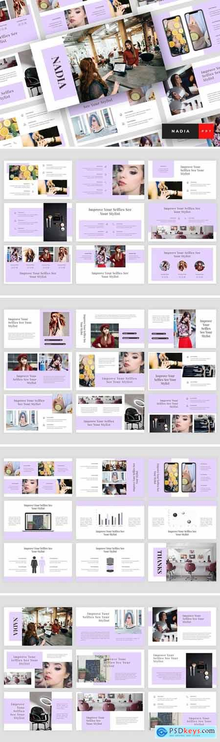 Nadia - Hair Salon Powerpoint, Keynote and Google Slides Templates