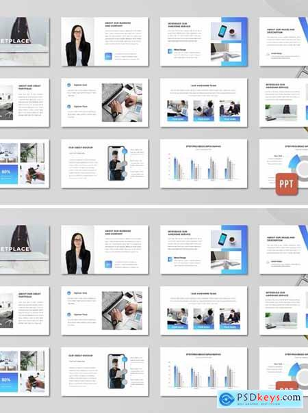 Marketplace Business Proposal Template - (PPT)