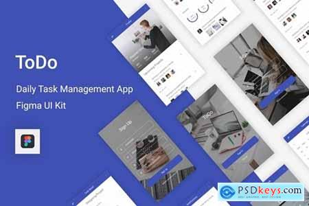 ToDo - Daily Task Management Mobile App for Figma