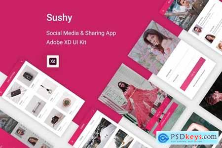 Sushy - Social Media Ui Kit for Adobe XD