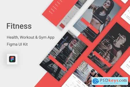 Fitness - Health, Workout & Gym UI Kit for Figma » Free