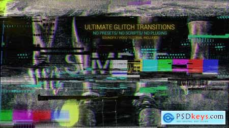 Videohive Glitch Transitions Free